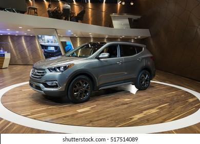 Los Angeles, USA - November 16, 2016: Hyundai Santa Fe Sport on display during the Los Angeles Auto Show.