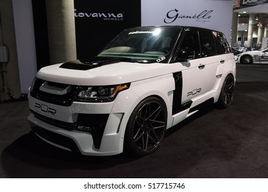 Los Angeles, USA - November 16, 2016: Customized Range Rover on display during the Los Angeles Auto Show.
