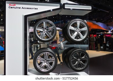 BEIJING APRIL Car Rims On Stock Photo Edit Now - Car show display accessories