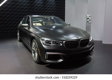 Los Angeles, USA - November 16, 2016: BMW M760i xDrive on display during the Los Angeles Auto Show.