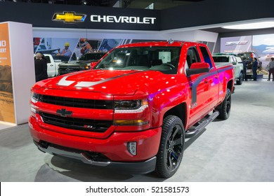 Los Angeles, USA - November 16, 2016: Chevrolet Silverado 1500 Z71  on display during the Los Angeles Auto Show.