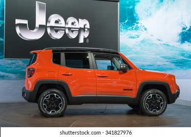 Los Angeles, USA - November 18, 2015:  Jeep Renegader on display during the 2015 Los Angeles Auto Show.