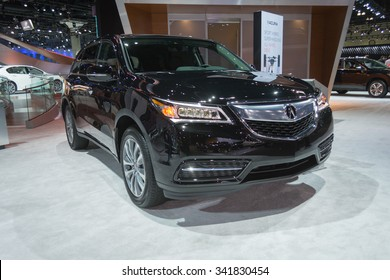 Los Angeles, USA - November 18, 2015: Acura MDX on display during the 2015 Los Angeles Auto Show.