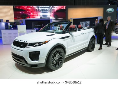 Los Angeles, USA - November 19, 2015: Range Rover Evoque Convertible SUV on display during the 2015 Los Angeles Auto Show.