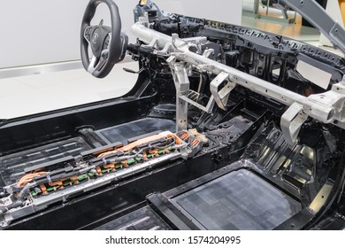 Los Angeles, USA - November 20, 2019: Acura NSX Cutaway car on display during Los Angeles Auto Show.