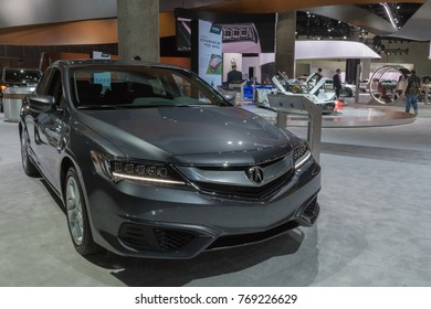 Los Angeles, USA - November 30, 2017: Acura ILX on display during LA Auto Show at the Los Angeles Convention Center.