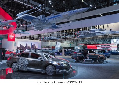 Los Angeles, USA - November 30, 2017: Nissan Star Wars cars on display during LA Auto Show at the Los Angeles Convention Center.