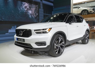 Los Angeles, USA - November 30, 2017: Volvo XC40 on display during LA Auto Show at the Los Angeles Convention Center.