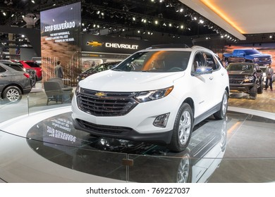 Los Angeles, USA - November 30, 2017: Chevrolet Equinox on display during LA Auto Show at the Los Angeles Convention Center.