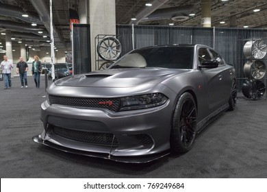 Los Angeles, USA - November 30, 2017: Dodge Charger SRT Hellcat on display during LA Auto Show at the Los Angeles Convention Center.