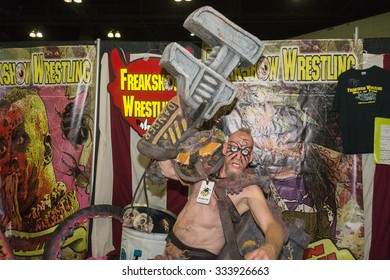 Los Angeles - USA - October 31, 2015: Freakshow fighter during Comikaze Expo at the Los Angeles Convention Center.