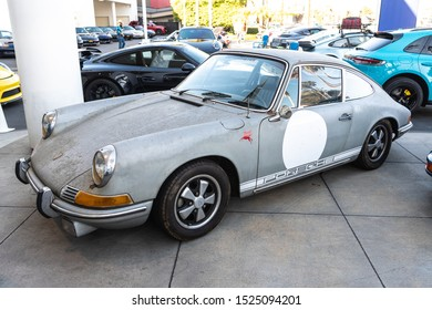 Los Angeles, USA - October 6, 2019: Porsche 911 Carrera T on display during Galpin carshow.