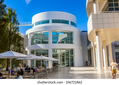 LOS ANGELES, USA - SEP 26, 2015: Campus of the J. Paul Getty Museum (Getty Museum), an art museum in California established in 1974