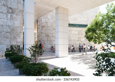 LOS ANGELES, USA - SEP 26, 2015: Interior and gallery of the J. Paul Getty Museum (Getty Museum), an art museum in California established in 1974
