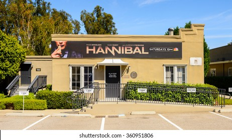 LOS ANGELES, USA - SEP 27, 2015: Hannibal pavilion at the Hollywood Universal Studios. Universal Pictures company was created on June 10, 1912