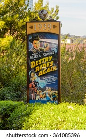 LOS ANGELES, USA - SEP 27, 2015: film poster at the Hollywood Universal Studios. Universal Pictures company was created on June 10, 1912