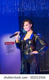 LOS ANGELES, USA - SEP 28, 2015: Demy Lovato in Madame Tussauds Hollywood wax museum. Marie Tussaud was born as Marie Grosholtz in 1761