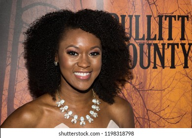 LOS ANGELES, USA - SEPTEMBER 13, 2018: Actress Alysia Livingston ('Carolyn') attends the special screening of the thriller 'Bullitt County' at Ahrya Fine Arts Laemmle Theater in Beverly Hills.