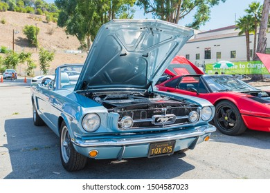 Los Angeles, USA - September 14, 2019: Electric Mustang during Charge Up LA, electric vehicle EVs and plug-in hybrids PHEVs event.