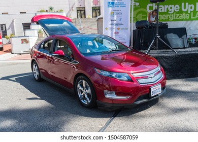 Los Angeles, USA - September 14, 2019: Chevrolet Volt during Charge Up LA, electric vehicle EVs and plug-in hybrids PHEVs event.