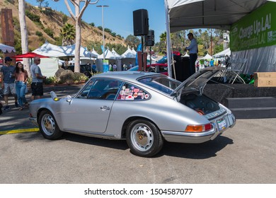 Los Angeles, USA - September 14, 2019: Porsche 912 EV during Charge Up LA, electric vehicle EVs and plug-in hybrids PHEVs event.