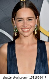 LOS ANGELES, USA. September 23, 2019: Emilia Clarke at the HBO post-Emmy Party at the Pacific Design Centre.Picture: Paul Smith/Featureflash