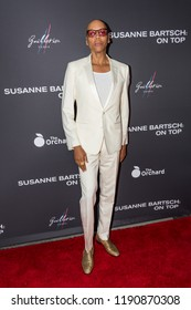 """LOS ANGELES, USA - SEPTEMBER 4, 2018: RuPaul poses on red carpet at Los Angeles premiere of """"Susanne Bartsch: On Top""""."""
