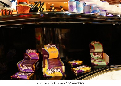 Los Angeles/California - 09/09/2013: wonka chocolate in Sweet Hollywood store, Los Angeles, California, United States