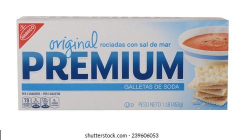 Los Angeles,California Dec 10th,2014: Nice Image of a box of Nibisco Saltine Crackers