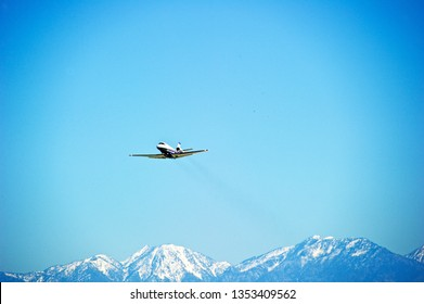 LOS ANGELES/CALIFORNIA - MARCH 16, 2019: Privately owned Cessna Citation XLS+ aircraft is airborne as it departs Los Angeles International Airport. Los Angeles, California USA