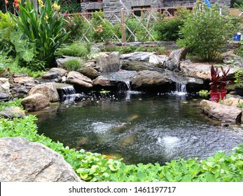 Koi Pond Waterfall Images Stock Photos Vectors Shutterstock