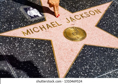 Los Angeles/California/USA - 09/09/2013: Michael Jackson star at Walk of Fame in Hollywood Boulevard, Los Angeles, California, USA
