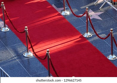 Los Angeles/California/USA - 09/09/2013: Red carpet at Walk of Fame in Hollywood Boulevard, Los Angeles, California, USA