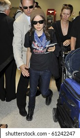 LOS ANGELES-JULY 11: Actress Ellen Page is seen at LAX. July 11, 2010 in Los Angeles, California