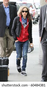 LOS ANGELES-JULY 5: Actress Ellen Page is seen at LAX. July 5th in Los Angeles, California 2010