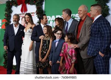 LOS ANGELES,NOV 5,2017: Mel Gibson, Alessandra Ambrosio, Mark Wahlberg,Didi Costine,Owen Wilder Vaccaro,Scarlett Estevez,Linda Cardellini,Will Ferrell,John Lithgow, John Cena. Daddy's Home 2 premiere.