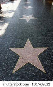 Los Angeles/USA - 07/20/2006 : The empty star on the sidewalk of Hollywood Boulevard Walk of fames