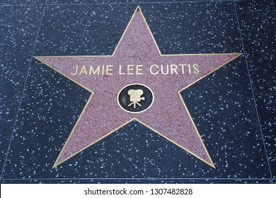 Los Angeles/USA - 07/20/2006 : The Jamie Lee Curtis star on the sidewalk of Hollywood Boulevard Walk of fames