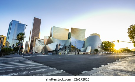 Los Angeles,usa,-07/13/16:Walt disney concert hall on sunny day,