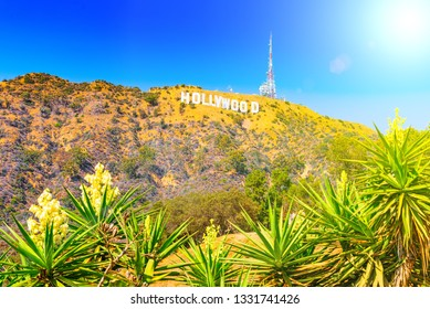 Los Angelos, California, USA - September 05, 2018: Inscription Hollywood on the Hollywood Hills in Los Angeles.
