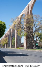 The Los Arcos (aqueduct) in Queretaro, Mexico. 2018