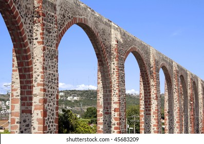 The Los Arcos (aqueduct) in Queretaro, Mexico.  Constructed between 1726 and 1735.