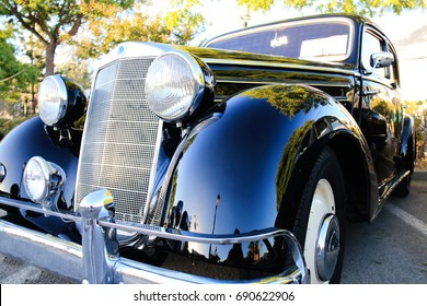 Los Barrios, Spain - June 30, 2017: Sports car exhibited at the classic car show held in Los Barrios, Spain on June 30, 2017