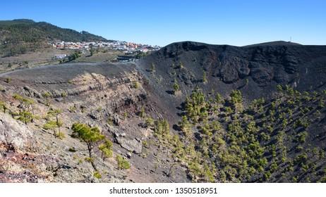Los Canarios, perched above the volcanic crater of San Antonio, La Palma