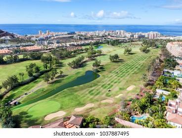 Los Cristianos golf course - aerial view