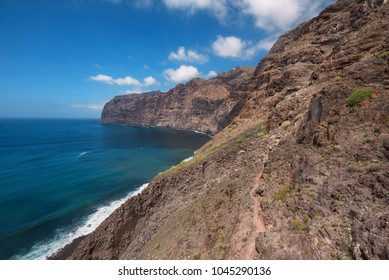 Los gigantes Cliffs, famous landmark in Tenerife island, Canary islands, Spain.