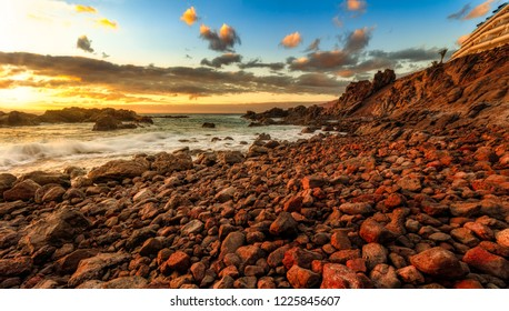 Los Gigantes,Tenerife at sunset