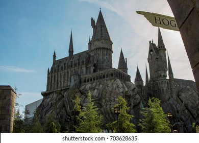 los angeles,usa-15/02/2017-Château Harry Potter universal studio