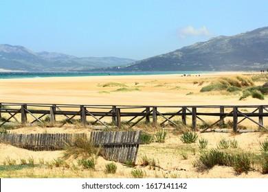 Los lances beach in Tarifa,Cadiz, Andalucia Spain