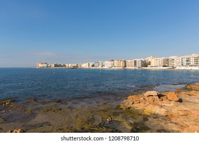 Los Locos Torrevieja Spain view across bay to beach and seafront